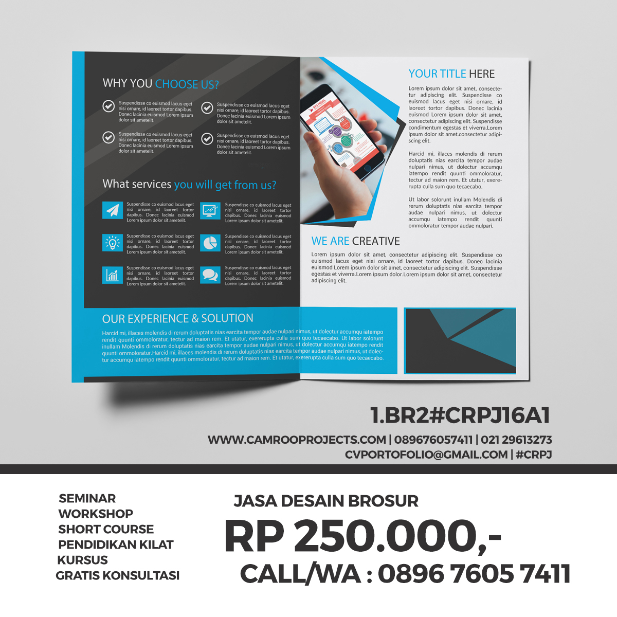 jasa desain flyer dan brosur wilayah bekasi