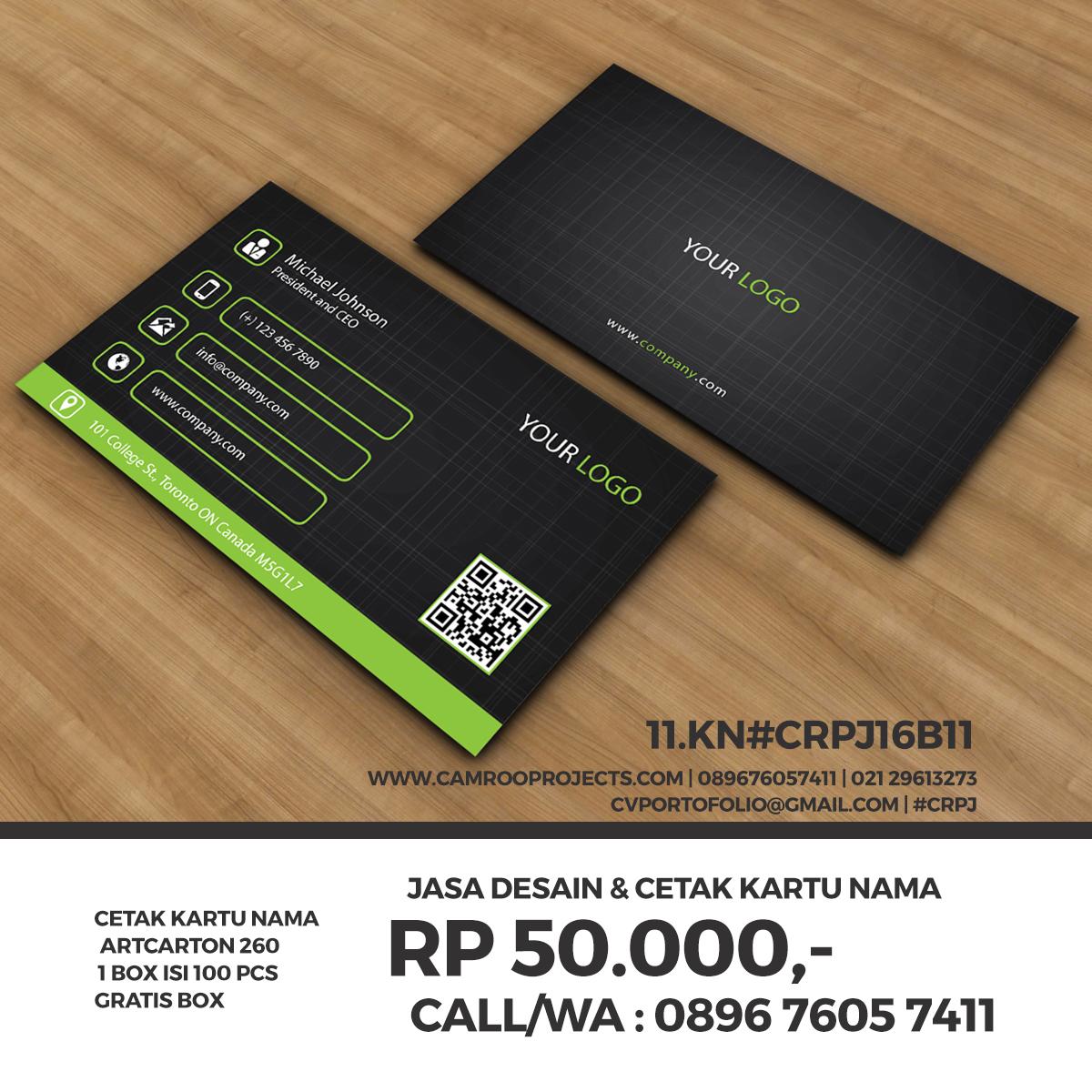 Jasa Desain Kartu Nama | Terunik | Call/WA 0896 760 574 11