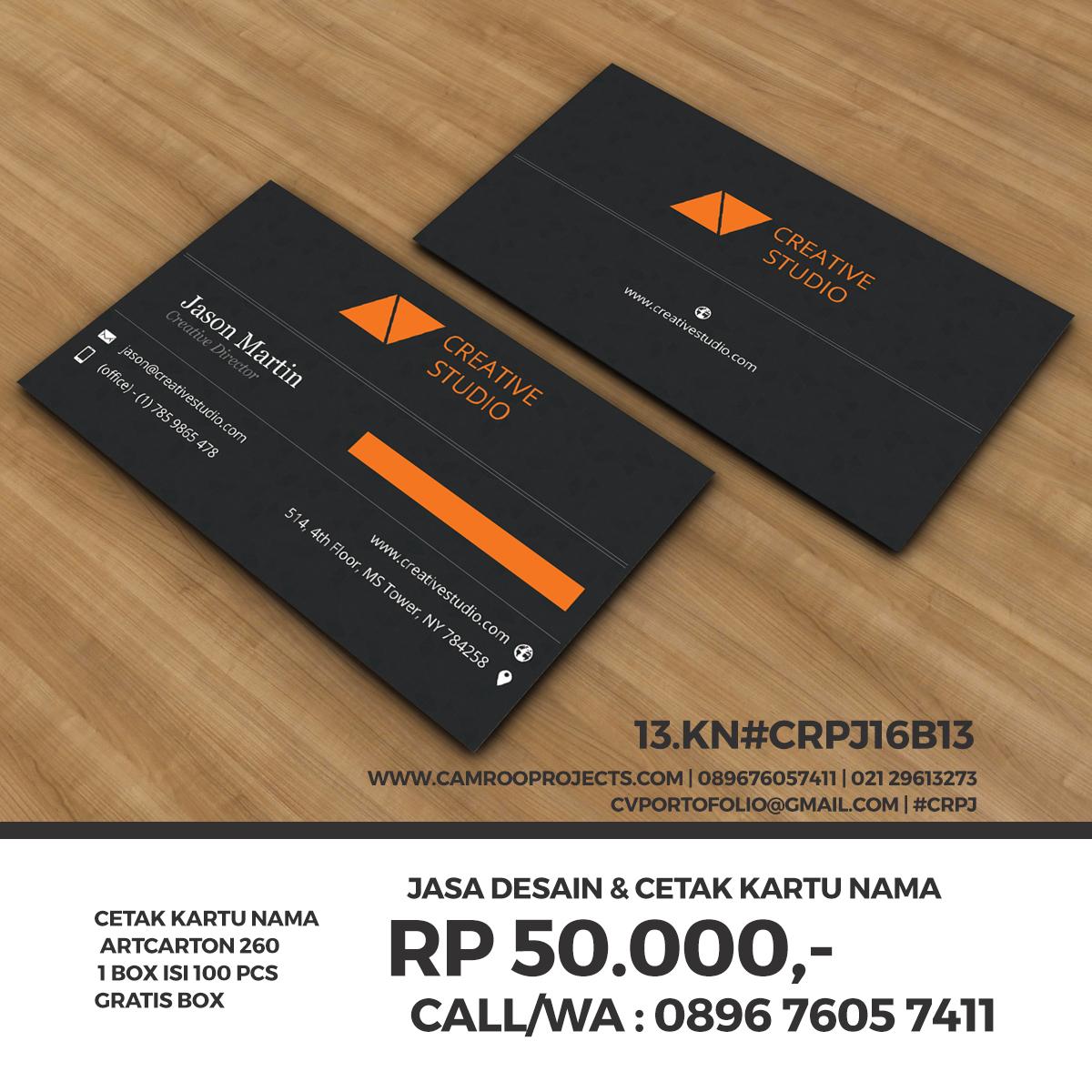 Jasa Desain Kartu Nama   bagus   Call/WA 0896 760 574 11