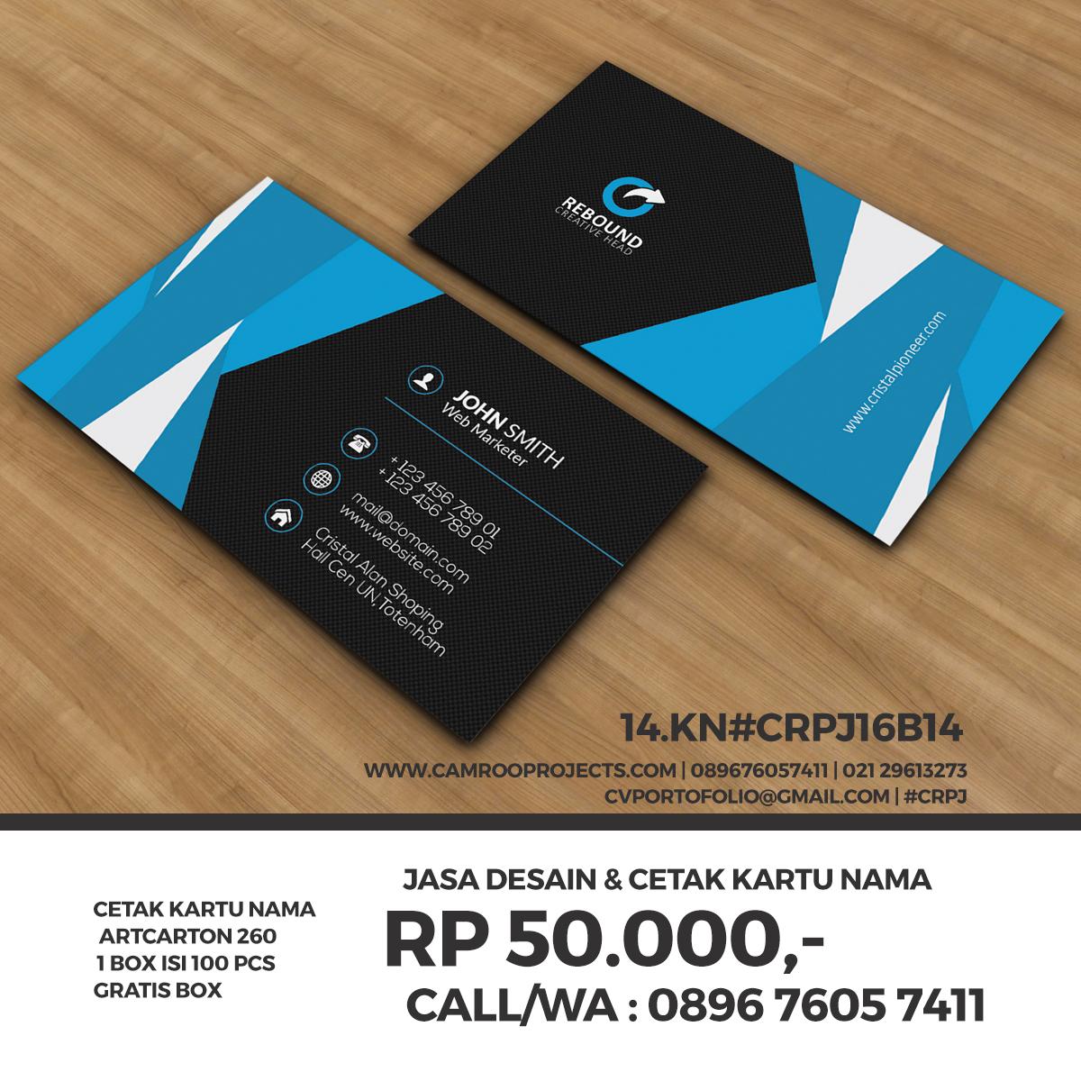 Jasa Desain Kartu Nama | bagus | Call/WA 0896 760 574 11