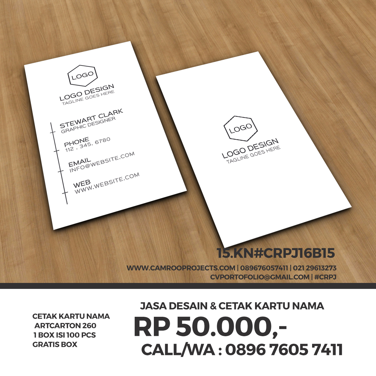 Jasa Desain Kartu Nama | murah | Call/WA 0896 760 574 11