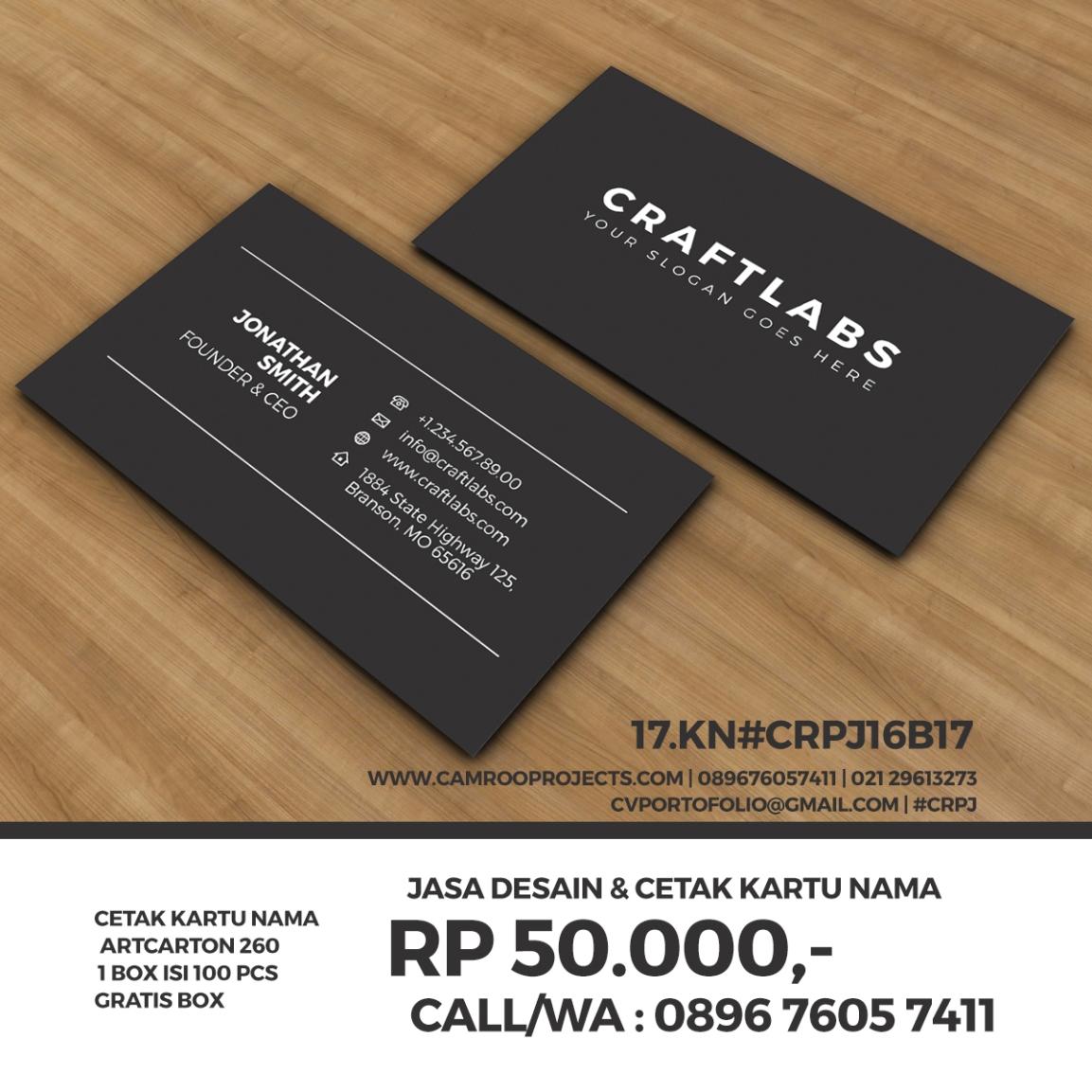 Jasa Desain Kartu Nama | kreatif | Call/WA 0896 760 574 11