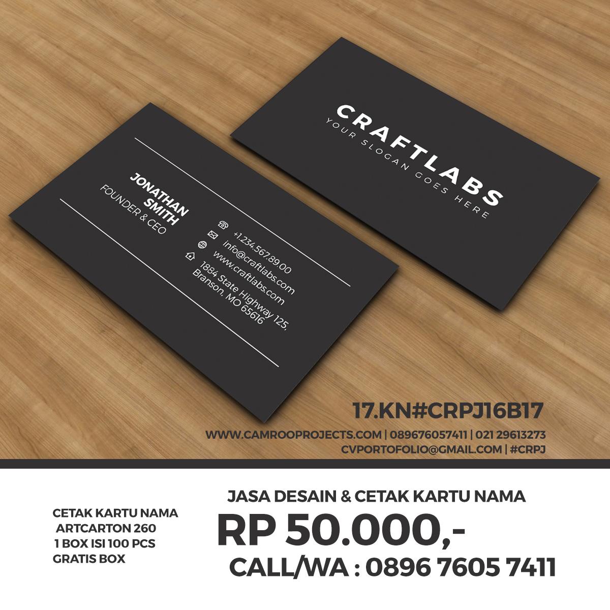 Jasa Desain Kartu Nama   kreatif   Call/WA 0896 760 574 11