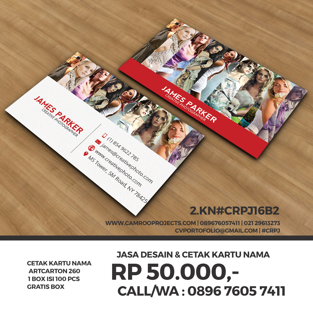 Jasa Buat Kartu Nama Minimalis Di Jakarta