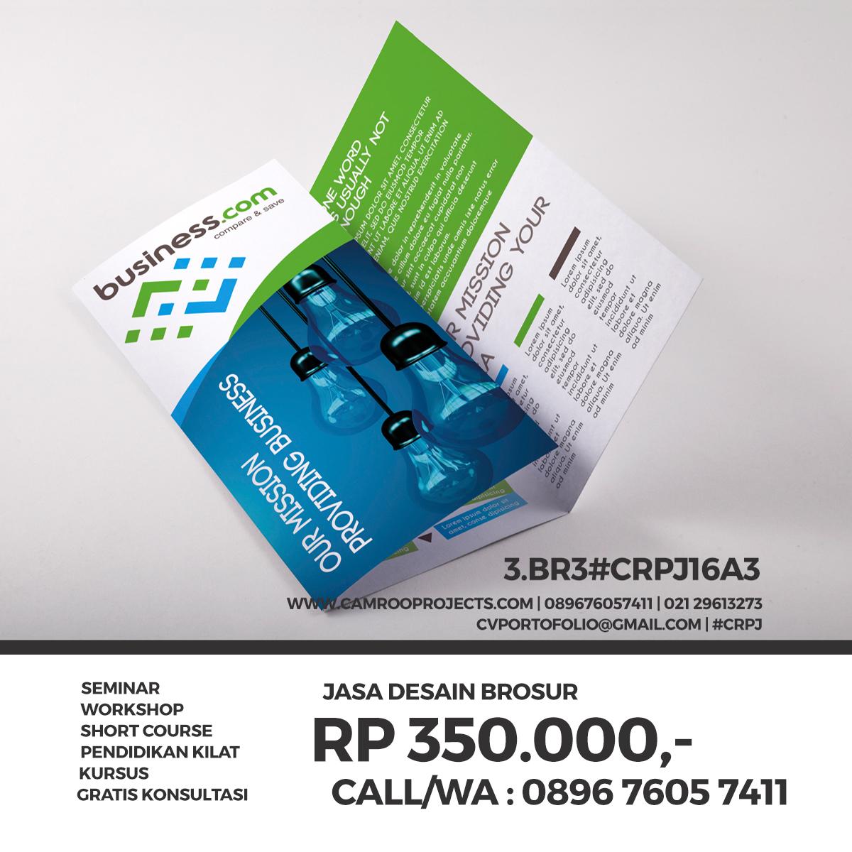 Jasa Desain Brosur | murah | Call/WA 0896 760 574 11