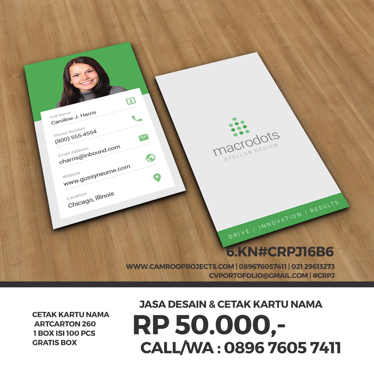 Jasa Desain Kartu Nama | resmi | Call/WA 0896 760 574 11